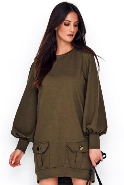 Sukienka khaki NU220