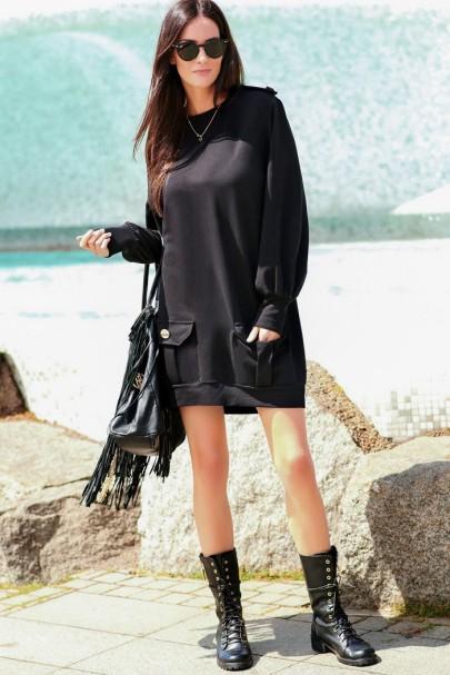 Sukienka czarna NU220