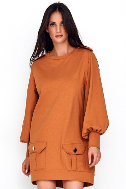 Sukienka camelowa NU220