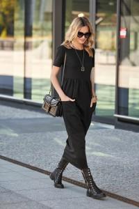 Maxi sukienka czarna M478