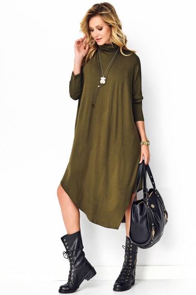 Sukienka khaki asymetryczna...