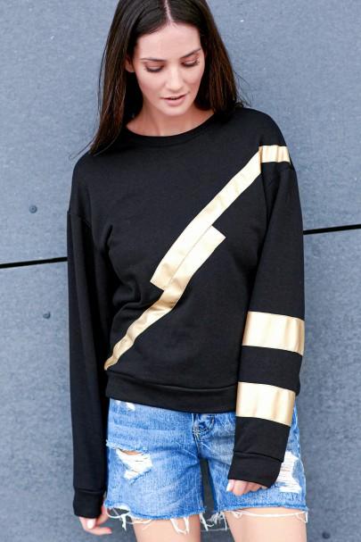 Bluza czarna ze złotą...