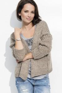 Sweter kardigan cappucino NU_S18