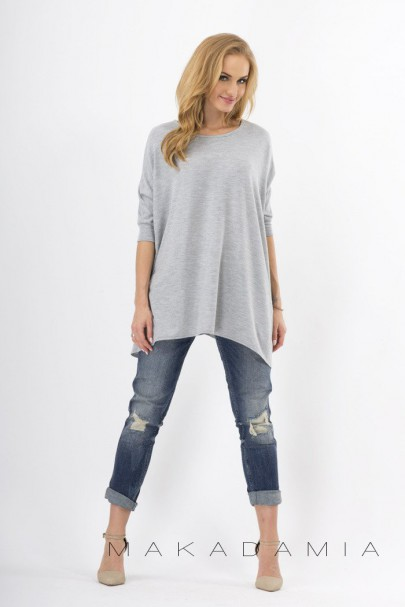Sweter szary oversize M18