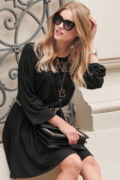 Sukienka z koronką czarna...
