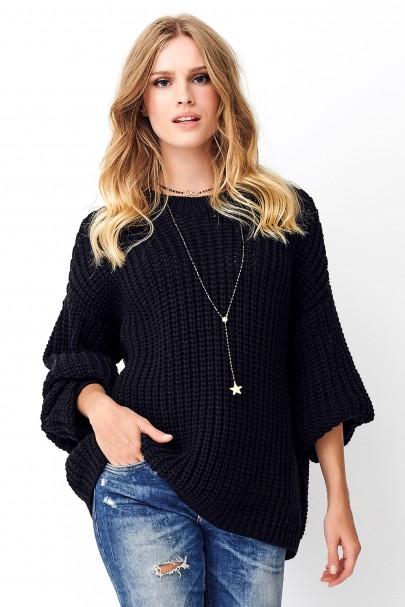 Klasyczny sweter czarny NU_S74