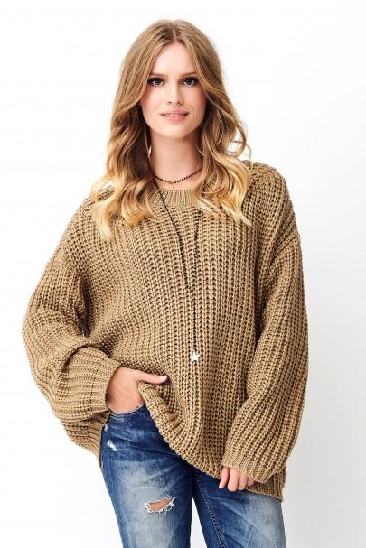 Klasyczny sweter orzechowy...